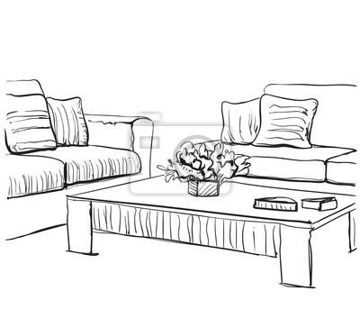 und skizzestuhl interieur Hand raum gezeichnetes fenster qpUjzVMLSG