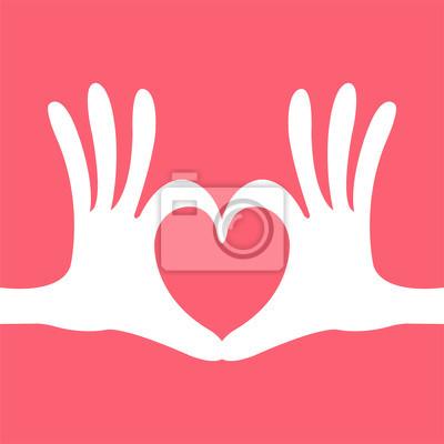 Hand Herz Geste