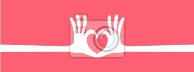 Hand Herz Geste Header