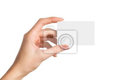 Fototapete Hand holding blank business card