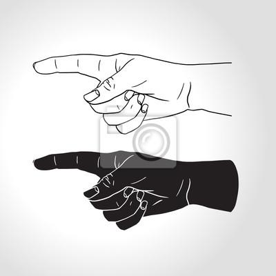 Hand mit ausgestrecktem Zeigefinger (Vektor-Illustration)