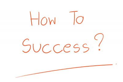 """Hand writing. Red word """"How To Success ?"""" on white background. Simple image. Question. Business , Education or Life planning."""