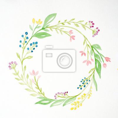 Hand Zeichnen Blumen In Aquarell Stil Auf Weissem Papier Hintergrund