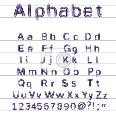 Hand-Zeichnung Alphabet - Vektor-Illustration