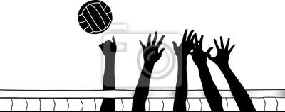 Hände am Volleyball-Netz