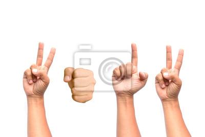 Fototapete Hände im Jahr 2012.