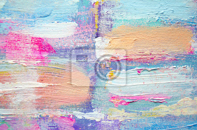 Fototapete: Handgezeichnete acrylmalerei. abstrakt kunst hintergrund.  acrylmalerei