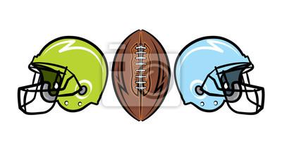 Handgezeichnete American Football Illustration