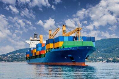 Fototapete Händler Containerschiff