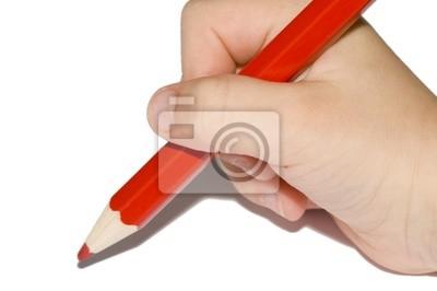 Handschrift Rotstift