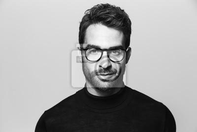 Fototapete Handsome Mann in Brille, Porträt