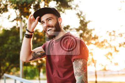 Fototapete Handsome young man dressed in casual clothing
