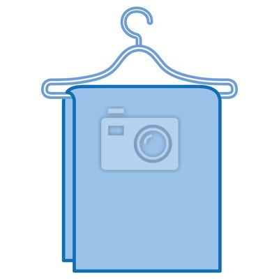 Handtuch hängen in drahthaken vektor-illustration-design fototapete ...