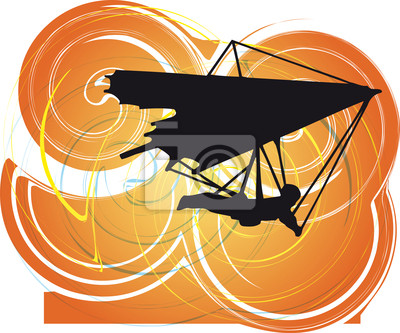 Hang Glider. Vektor-Illustration
