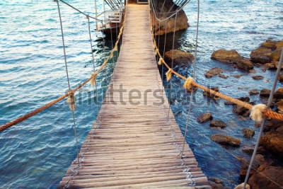Fototapete Hängebrücke