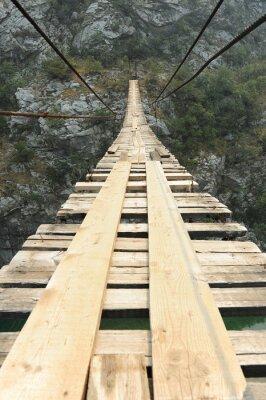 Fototapete Hängebrücke in der Schlucht