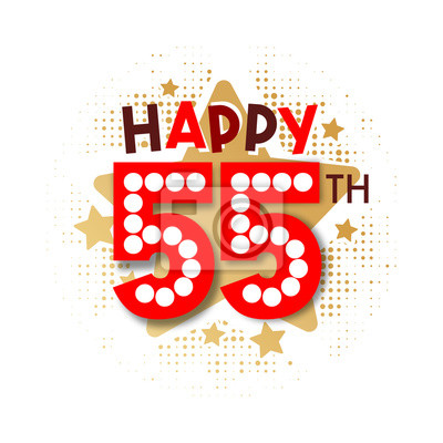 Fototapete Happy 55th Birthday