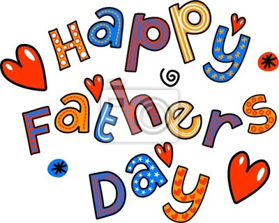 Happy Fathers Day Cartoon Doodle Text