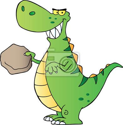 Happy green dinosaurier fototapete • fototapeten Vorgeschichte, dino ...