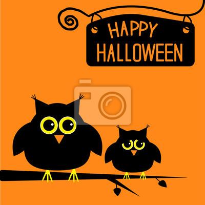 Happy Halloween niedlichen Eulen-Karte.
