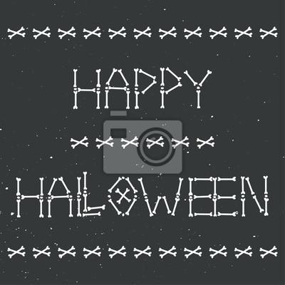 Happy Halloween-Skelett-Grußkarte
