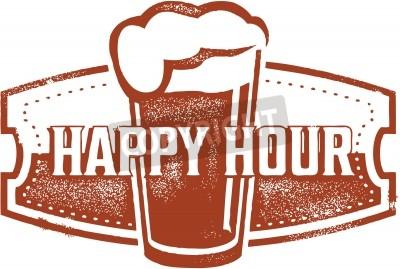 Fototapete Happy Hour Bier Bar Design