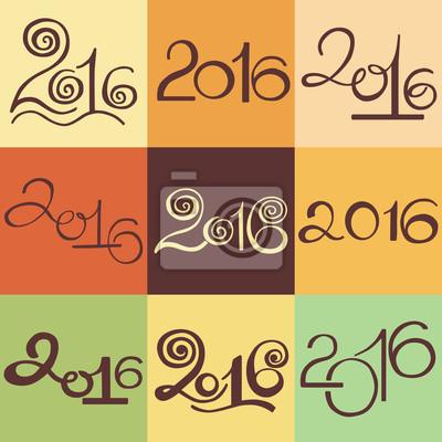 Happy New 2016 Jahr festgelegt