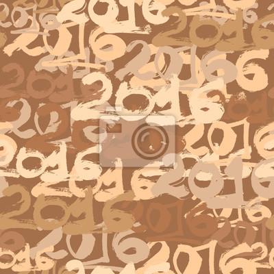 Happy New Year 2016 Feier Hintergrundbild nahtlose Muster.