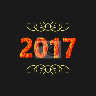 Happy New Year 2017 Hintergrund Abbildung Fototapete Fototapeten