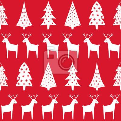 Fototapete Happy New Year nahtlose Hintergrund. Einfache Vektor Winterurlaub Design für Textil-, Tapeten, Geschenkpapier, Stoff, Dekor.