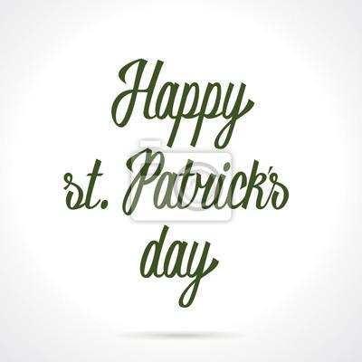 Happy st. Patricks Tag Hand Schriftzug. Vektor