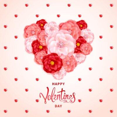 Happy Valentinstag Hintergrund Ein Grosses Herz Das Von Den