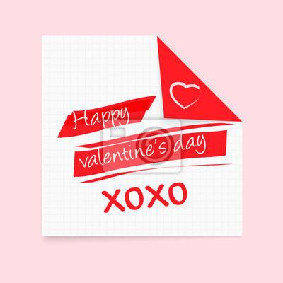 Happy Valentinstag Merkzettel