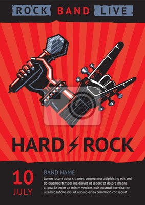 Concert Flyer   Hard Rock Party Design Template For A Rock Concert Poster With