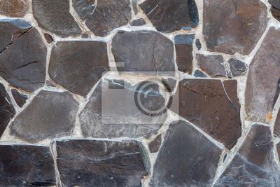 Harmonische Muster Von Schiefer Fliesen Steinmauer Textur