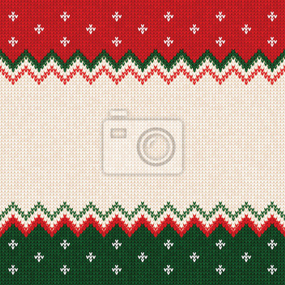 Frohe Weihnachten Rahmen.Fototapete Hässliche Strickjacke Frohe Weihnachten Und Happy New Year Grußkarte