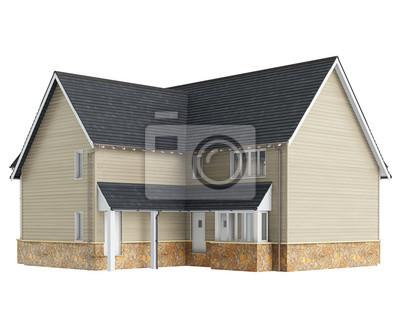 Haus Holzfassade Fototapete Fototapeten Luxus Haus Ziegeldach