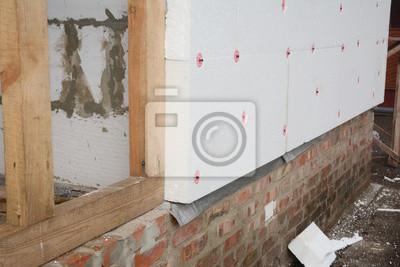 Haus Starre Styropor Isolierung Fur Energieeinsparung Fototapete