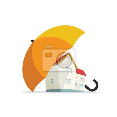 Haus Versicherung Konzept Wohn Immobilien Immobilien Schutz