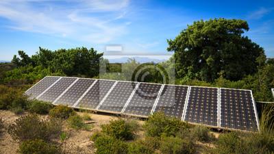 Haushalt Photovoltaik Batterie Bleiben Auf Dem Boden Im Garten