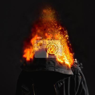 Fototapete Head On Fire