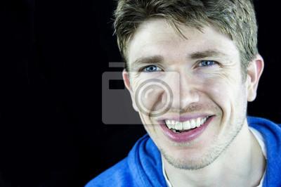 Augen haaren mit blauen braunen jungs und Junge Mit