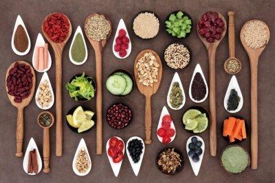 Fototapete Health Food Sampler