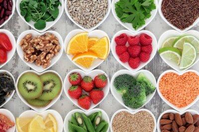 Fototapete Healthy Heart Lebensmittel