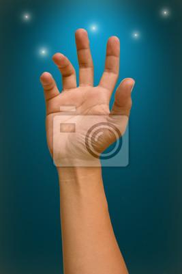 Fototapete Heben Sie die Hand