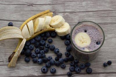 Fototapete Heidelbeeren Bananen Milchshake