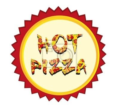 heiße Pizza-Tag