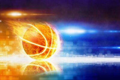 Heißer brennender Basketball