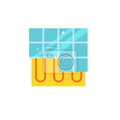 Heizung unter boden-symbol fototapete • fototapeten wärmer ...