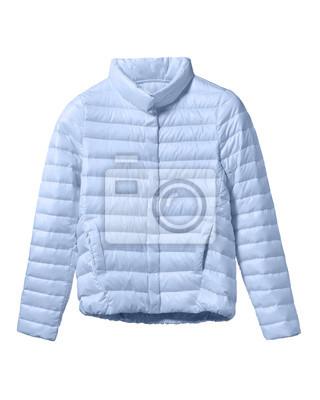 wholesale dealer 049a2 c7bd3 Fototapete: Hellblaue frau pastell wurm daunenjacke isoliert auf weiss